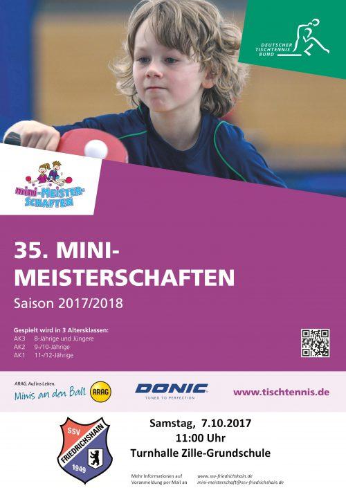 Plakat SSV Mini-Meisterschaften